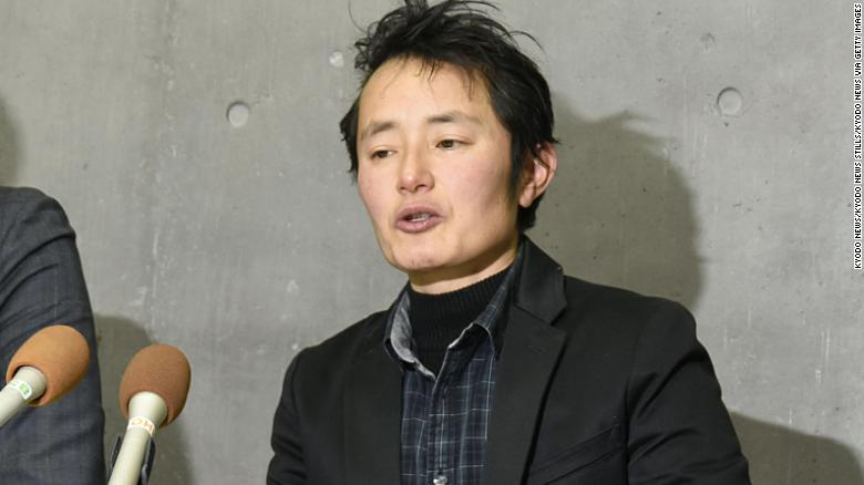 Takakito Usui speaks publicly after hearing that his appeal was denied by the Supreme Court.
