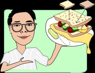 Al presents a sandwich